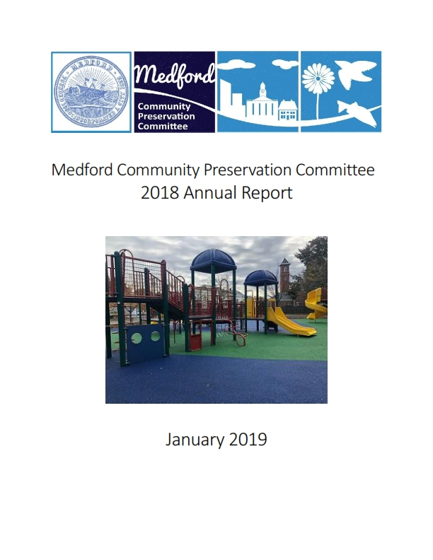 2018 Annual Report cover with logo and picture of Roberts School Playground